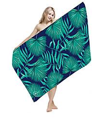 Недорогие -Высшее качество Пляжное полотенце, Цветочные / ботанический / Реактивная печать 100%микро волокно 1 pcs