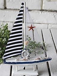 baratos -1pç Resina / Madeira Mediterrêneo para Decoração do lar, Objetos de decoração / Home Decorações Presentes