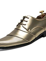 Недорогие -Муж. Искусственная кожа / Полиуретан Лето Удобная обувь Туфли на шнуровке Золотой / Белый / Черный