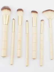 cheap -7 pcs Makeup Brushes Professional Makeup Brush Set / Blush Brush / Eyeshadow Brush Nylon fiber Soft / Full Coverage Wooden / Bamboo