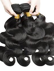 billige -6 Bundler malaysisk hår Krop Bølge Ubehandlet / Menneskehår Gaver / Cosplay Kostumer / Hovedstykke 8-28 inch Naturlig Farve Menneskehår Vævninger Nyfødt / Silkeagtig / Sikkerhed Menneskehår Extensions