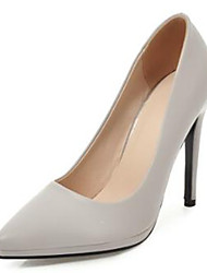 cheap -Women's Shoes PU(Polyurethane) Spring & Summer Basic Pump Heels Stiletto Heel Pointed Toe White / Black / Light Grey / Party & Evening