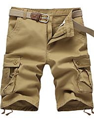 abordables -Hombre Básico Chinos Pantalones - Un Color