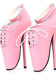 povoljno -Žene Cipele PU Proljeće ljeto Inovativne cipele Cipele na petu Stiletto potpetica Okrugli Toe Kopča Crvena / Crvena / Pink / Zabava i večer