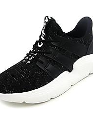 cheap -Women's Shoes PU(Polyurethane) / Elastic Fabric Summer Comfort Athletic Shoes Walking Shoes Flat Heel Round Toe White / Black / Pink