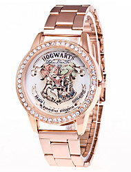 cheap -Couple's Wrist Watch Quartz Chronograph Creative Casual Watch Stainless Steel Band Analog Bangle Word Watch Rose Gold - Rose Gold One Year Battery Life / Imitation Diamond / Large Dial