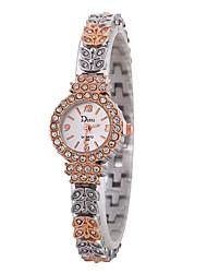 baratos -Xu™ Mulheres Relógio Elegante / Relógio de Pulso Chinês Criativo / Relógio Casual / imitação de diamante Lega Banda Casual / Fashion Prata / Ouro Rose / Um ano