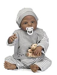 Недорогие -NPKCOLLECTION Куклы реборн Мальчики 24 дюймовый Полный силикон для тела Силикон Винил - как живой Подарок Безопасно для детей Non Toxic Гофрированные и запечатанные ногти Естественный тон кожи Детские