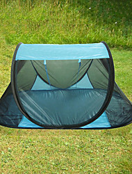 cheap -1 person Screen Tent / Pop up tent Single Pop Up Dome Camping Tent Outdoor Lightweight, Breathability, Anti-Mosquito for Traveling / Picnic <1000 mm Acetate 220*120*90 cm