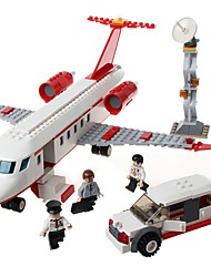 abordables -GUDI Blocs de Construction 334 pcs Avion Soulagement de stress et l'anxiété / Interaction parent-enfant Avion Cadeau