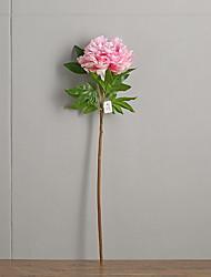 abordables -Fleurs artificielles 1 Une succursale Classique Rustique Pivoines Arbre de Noël