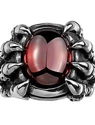 cheap -Men's Synthetic Ruby Band Ring - Fashion 8 / 9 / 10 Silver For Party / Daily