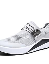 cheap -Men's Knit Summer Comfort Athletic Shoes Walking Shoes Black / Dark Blue / Light Grey