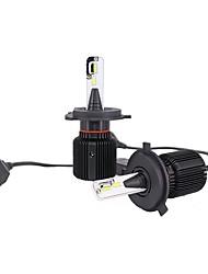 Недорогие -2pcs H4 / P43T Автомобиль Лампы 80 W Интегрированный LED 8000 lm 48 Светодиодная лампа Налобный фонарь For Универсальный Универсальный Универсальный