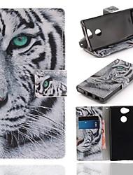 abordables -Coque Pour Sony Xperia XA2 Portefeuille / Porte Carte / Avec Support Coque Intégrale Animal Dur faux cuir pour Xperia XA2