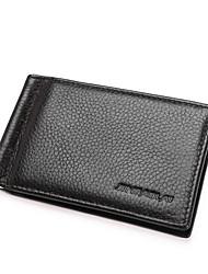 baratos -sacos de homens carteira de couro napa zipper preto / café