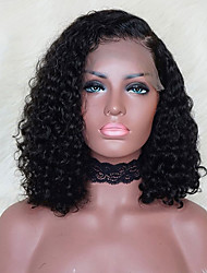 Remy Human Hair Lace Front Wig Bob style Brazilian Hair Curly Wig 130%  Density with Baby Hair Natural Hairline African American Wig Unprocessed  Bleached ... cec62d2804