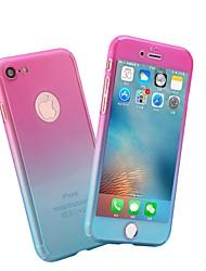 Недорогие -Кейс для Назначение Apple iPhone X / iPhone 8 Матовое Чехол Мрамор / Градиент цвета Твердый ПК для iPhone X / iPhone 8 Pluss / iPhone 8