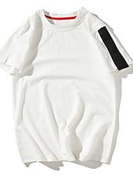 お買い得  -メンズTシャツ - ソリッドカラーのラウンドネック