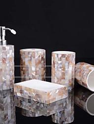 economico -Set di accessori per il bagno Romantico / Creativo Resina / PVC 5 pezzi - Bagno Singolo