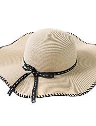 Недорогие -Жен. Классический / Праздник Соломенная шляпа Контрастных цветов