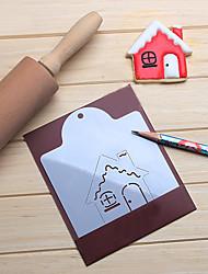 abordables -maison de noël biscuits pochoirs aide biscuit café dessiner moule