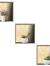 abordables -Autocollants muraux décoratifs - Autocollants muraux 3D A fleurs / Botanique / 3D Salle à manger / Bureau / Bureau de maison