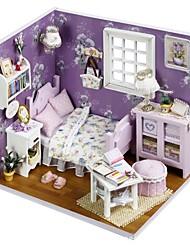 Недорогие -Кукольный домик со светодиодной подсветкой Романтика 1 pcs Куски Для подростков Подарок