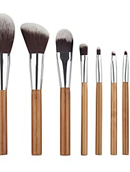 cheap -8pcs Makeup Brushes Professional Blush Brush / Eyeshadow Brush / Lip Brush Nylon fiber Soft / Full Coverage Wooden / Bamboo