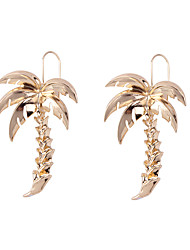 cheap -Women's Long Drop Earrings - Coconut Tree Fashion Gold / Silver For Gift / Daily