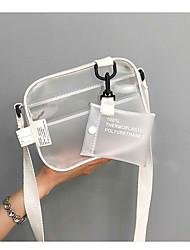 baratos -Mulheres Bolsas PVC Conjuntos de saco 2 Pcs Purse Set Ziper Branco