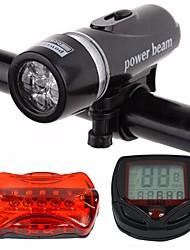 abordables -Lampe Avant de Vélo / Lampe Arrière de Vélo / Ensemble de Phares Rechargeables de Moto LED Eclairage de Velo Cyclisme Imperméable, Portable, Résistant à la poussière Lithium-ion 400 lm Blanc Cyclisme