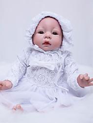 Недорогие -OtardDolls Куклы реборн Девочки 22 дюймовый Силикон - Новорожденный как живой Экологичные Подарок Ручная работа Безопасно для детей Детские Девочки Игрушки Подарок / Ручные прикладные ресницы