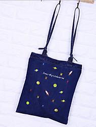 cheap -Women's Bags Canvas Tote Pattern / Print Blue / Dark Blue