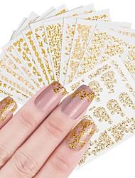 Недорогие -12 pcs Искусственные советы для ногтей Стразы для ногтей Стикеры маникюр Маникюр педикюр Модный дизайн / Творчество Профессиональный / Наклейки для ногтей На каждый день / Украшения для ногтей