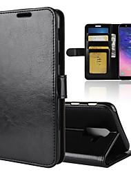 abordables -Funda Para Samsung Galaxy A8 2018 / A6 (2018) Cartera / Soporte de Coche / Flip Funda de Cuerpo Entero Un Color Dura Cuero de PU para A6 (2018) / A6+ (2018) / A8 2018