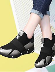 economico -Per donna Scarpe PU (Poliuretano) Primavera Comoda Sneakers Plateau Nero / Argento