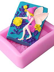 Недорогие -Инструменты для выпечки Силиконовый гель 3D в мультяшном стиле / Милый / Креатив Торты / многообещающий куб Формы для пирожных 1шт