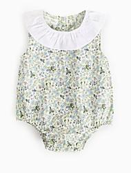 billige -Baby Pige Blomstret Uden ærmer Bodysuit