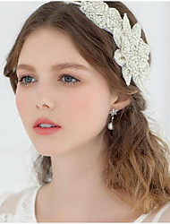 cheap -Lace / Organza Headbands / Headpiece with Floral / Lace-up 1 Piece Wedding / Party / Evening Headpiece