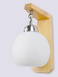 economico -Nuovo design Moderno / Contemporaneo Lampade da parete Camera da letto / Bagno Legno / bambù Luce a muro 220-240V 40 W