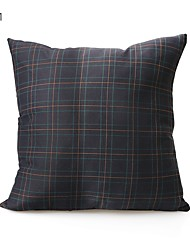 cheap -1 pcs Textile / Cotton / Linen Pillow Cover / Pillow Protector / Pillow Case, Damask / Plain Grid / Modern / Contemporary