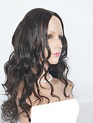 Недорогие -Натуральные волосы Лента спереди Парик Естественные кудри Волнистый Парик Парики из натуральных волос на кружевной основе