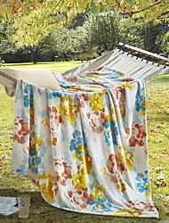 Недорогие -Коралловый флис, С принтом Цветочный принт Полиэфир / полиамид одеяла