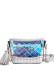 baratos -Mulheres Bolsas PVC / PU Conjuntos de saco 2 Pcs Purse Set Ziper / Mocassim Prata / Rosa