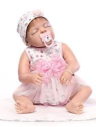 baratos -NPKCOLLECTION Bonecas Reborn Bebês Meninas 24 polegada Silicone de corpo inteiro / Vinil - realista de Criança Para Meninas Dom