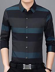 Недорогие -Муж. Рубашка Деловые / Классический В клетку