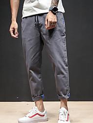 economico -Per uomo Essenziale Chino / Pantaloni della tuta Pantaloni - Tinta unita / Alfabetico
