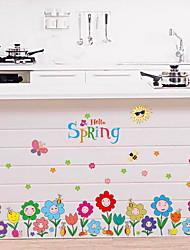 Недорогие -Декоративные наклейки на стены - Простые наклейки Цветочные мотивы / ботанический Детская