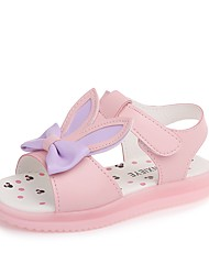 cheap -Girls' Shoes PU(Polyurethane) Summer Comfort / Flower Girl Shoes Sandals Walking Shoes Bowknot / Magic Tape for Kids Purple / Pink /